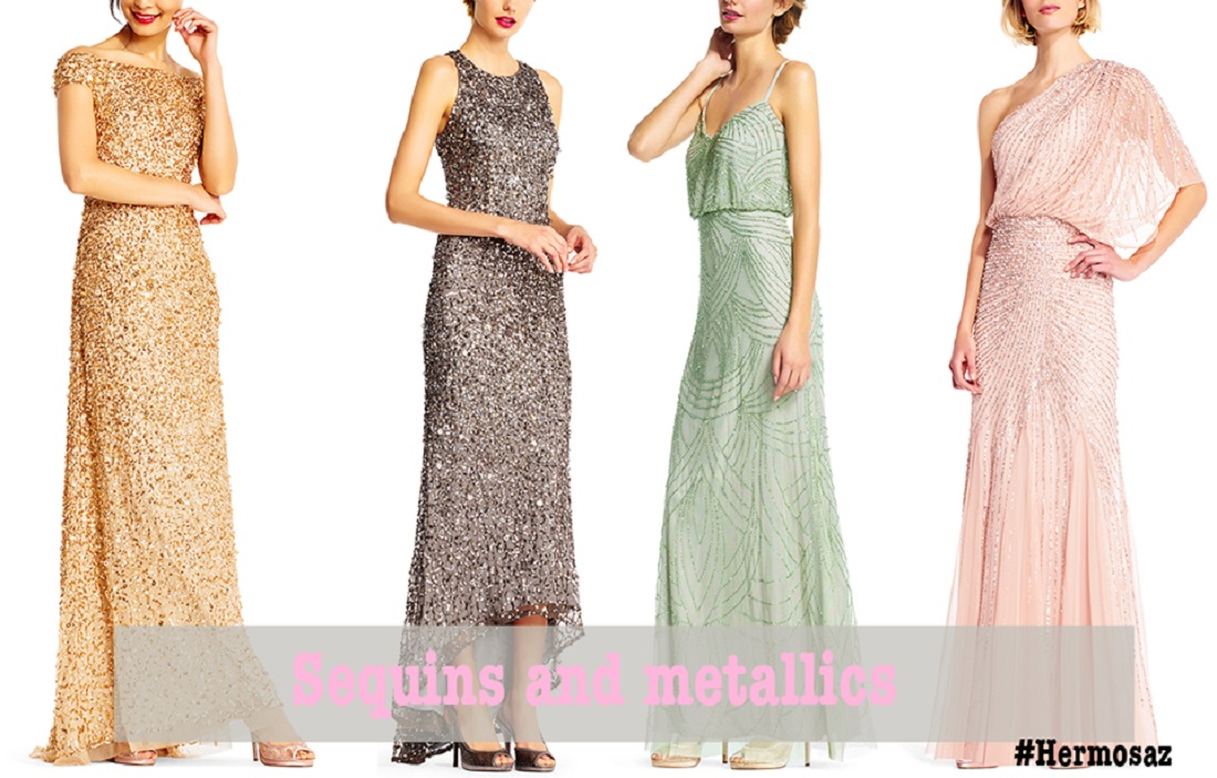 Sequins and metallics dresses | Hermosaz