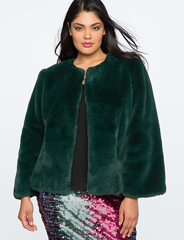 Eloquii Faux Fur Coat | Hermosaz