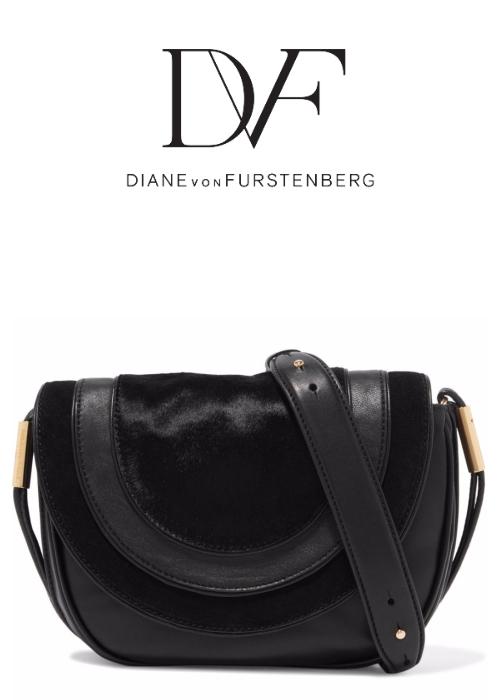 DIANE VON FURSTENBERG Calf hair and leather shoulder bag | Hermosaz