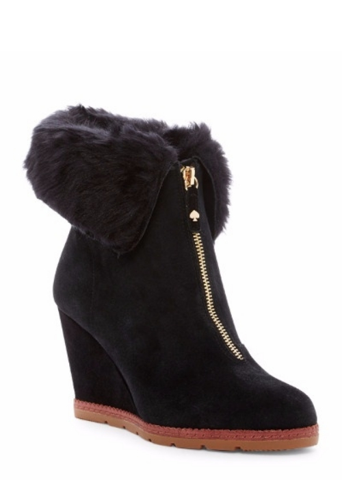kate spade new york stasia faux fur bootie | Hermosaz