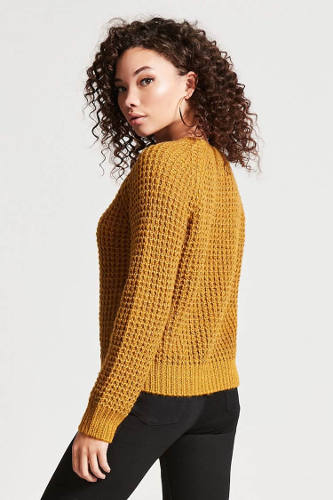 Forever21 Waffle-Knit Sweater | Hermosaz