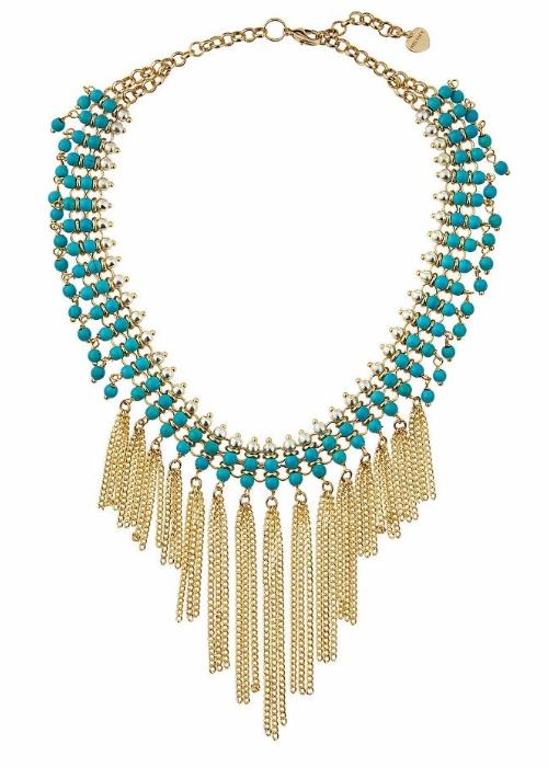 Nakamol Beaded Statement Fringed Choker Necklace | Hermosaz