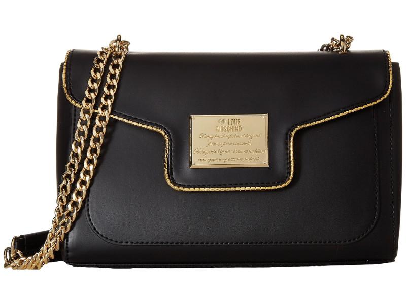 LOVE Moschino Plaque Flap Shoulder Bag | Hermosaz