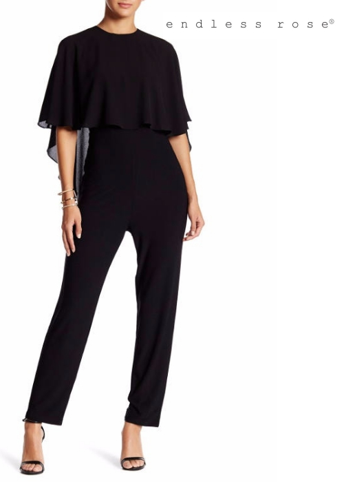 endless rose Cape Sleeve Jumpsuit | Hermosaz