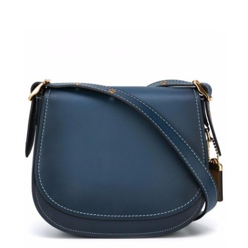 Tessabit COACH Glovetan Leather Saddle Bag | Hermosaz