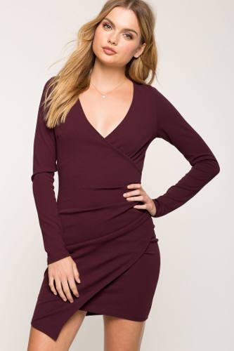 A'Gaci Kendall Techno Wrap Dress | Hermosaz