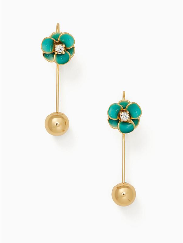 kate spade shine on flower hanger earrings | Hermosaz