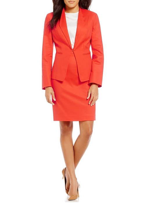 John Meyer Stretch Cotton 2-Piece Skirt Suit | Hermosaz