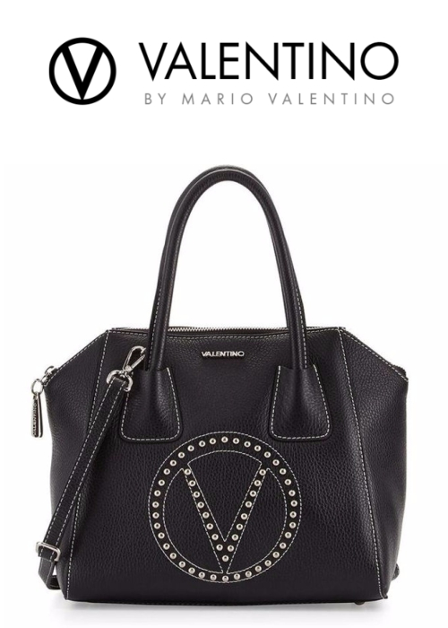 Valentino by Mario Valentino Minimi Studded Leather Tote Bag | Hermosaz