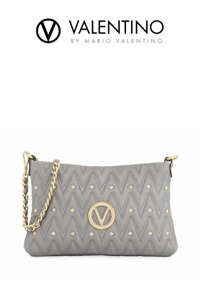 VALENTINO By Mario Valentino Vanille Studs Sauvage Leather Shoulder Bag | Hermosaz