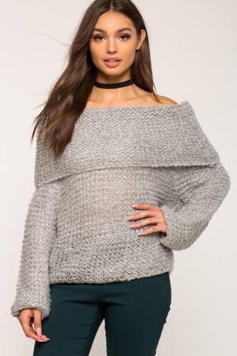 A'Gaci Chunky Off Shoulder Sweater | Hermosaz