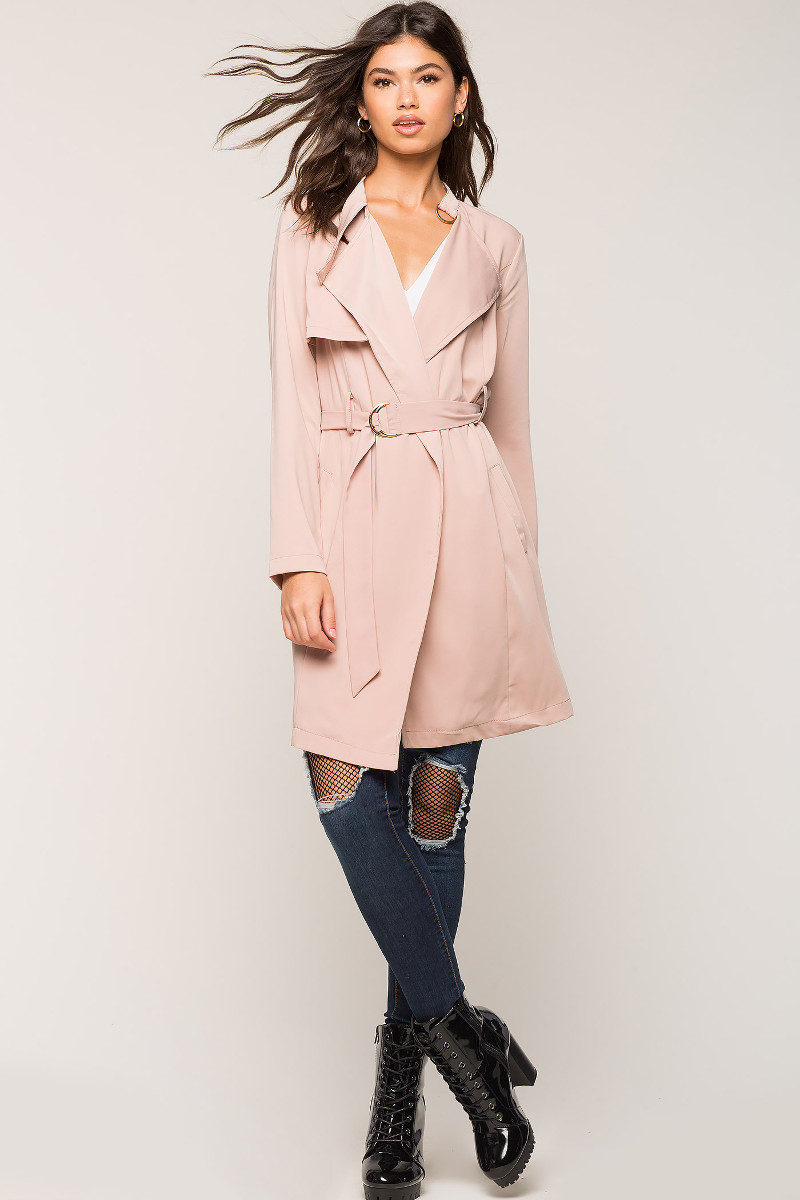 A'GACI Mia Belted Trench Coat | Hermosaz