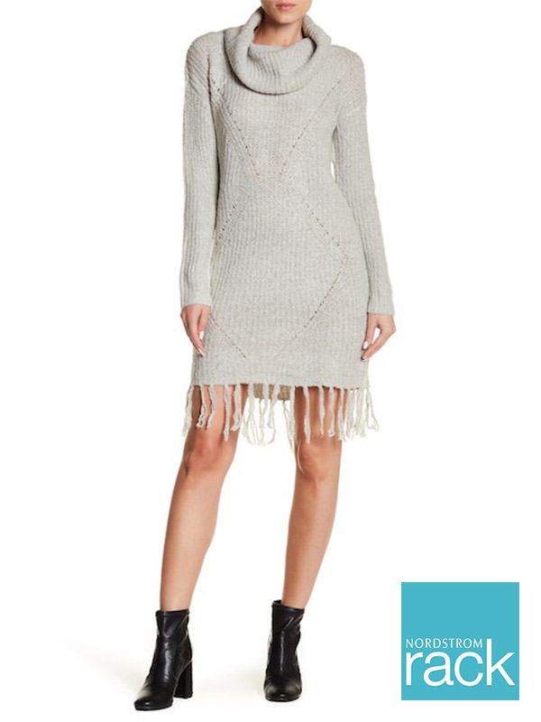 Solutions Fringe Hem Sweater Dress | Hermosaz