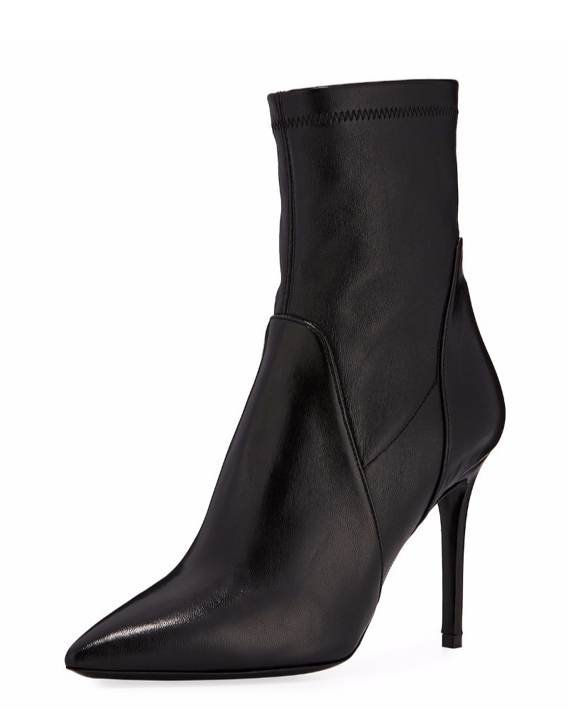 Charles David Linden Leather Stiletto Bootie | Hermosaz