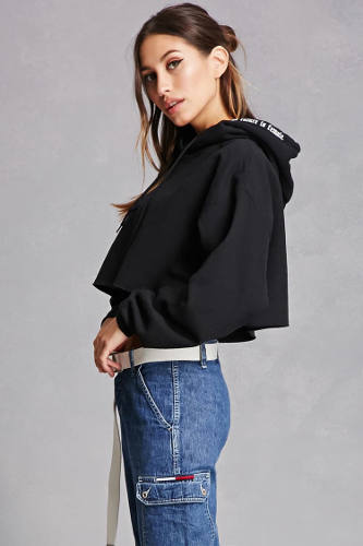Forever21 Repurposed Cropped Hoodie | Hermosaz