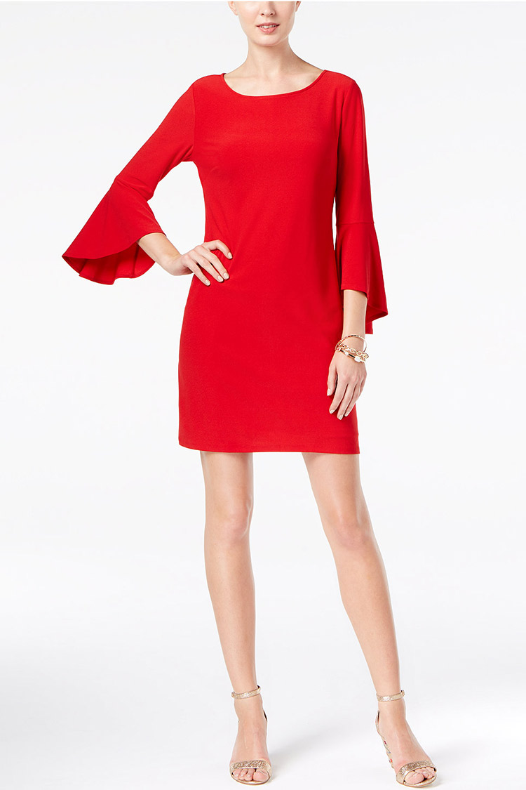 INC International Concepts Bell-Sleeve Dress | Hermosaz