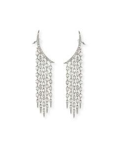 Oscar de la Renta Tendril Crystal Chandelier Earrings | Hermosaz