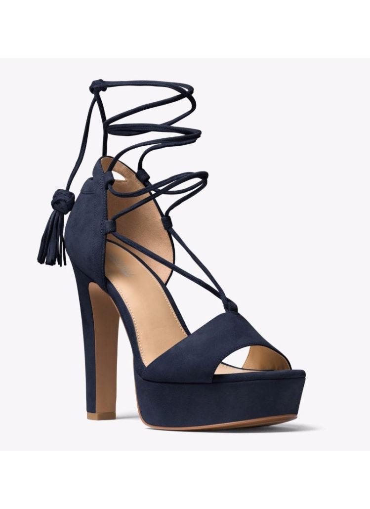 MICHAEL KORS Rosalie Suede Lace-Up Platform Sandal   Hermosaz