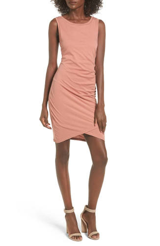 LEITH Ruched Body-Con Tank Dress | Hermosaz