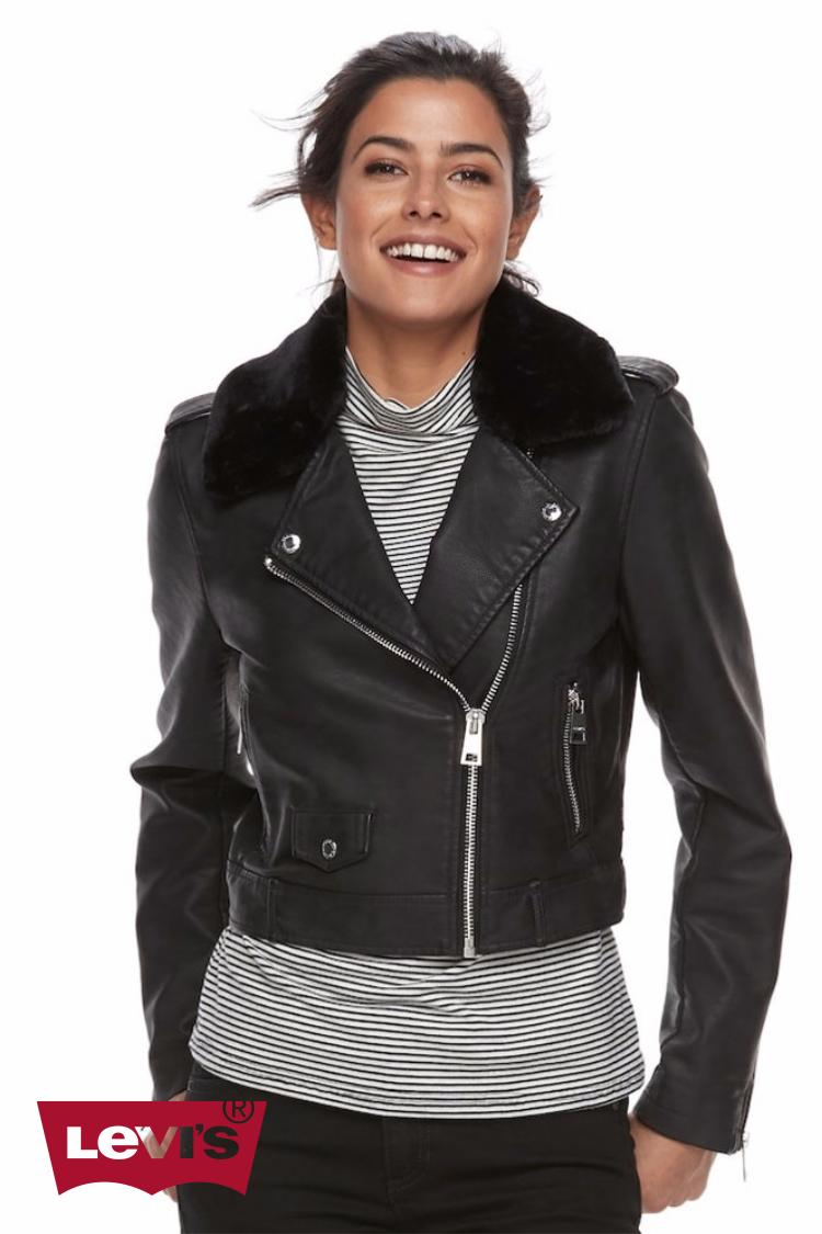 Levi's Faux-Leather Moto Jacket | Hermosaz