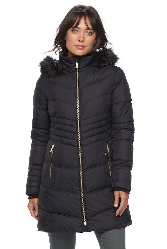 Women's Apt. 9® Hooded Faux-Fur Trim Jacket | Hermosaz