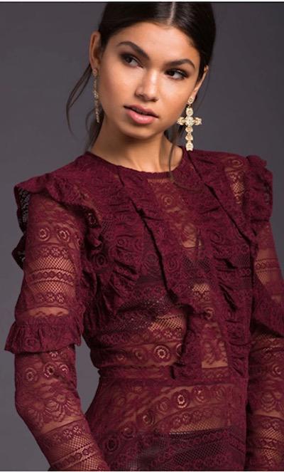 A'GACI  Too Hot To Handle Lace Peplum | Hermosaz