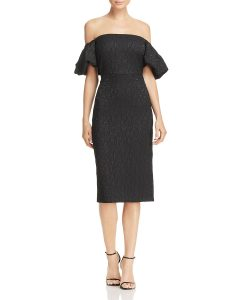 Jacquard Off-the-Shoulder Dress | Hermosaz