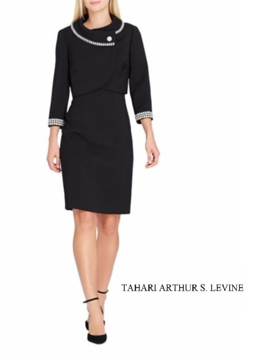 Tahari Arthur S. Levine Embellished Jacket and Dress Suit | Hermosaz
