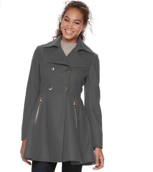 Women's Apt. 9® Wool Blend Double-Breasted Coat | Hermosaz