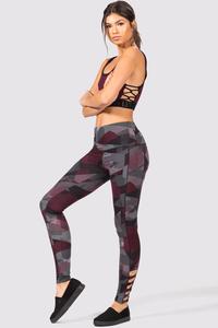 Geo Print Athleisure Leggings | Hermosaz