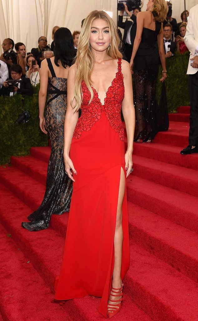 Gigi Hadid in Red Dress | Hermosaz