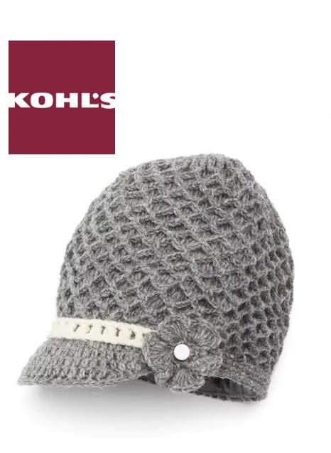 SIJJL Women's Crochet Brim Wool Beanie | Hermosaz