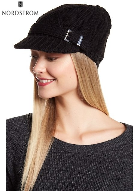 Classic Cable Knit News Boy Hat | Hermosaz