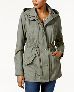 Style & Co Petite Cotton Hooded Utility Jacket | Hemrosaz