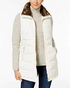 Charter Club Quilted Faux-Fur-Trim Vest | Hermosaz