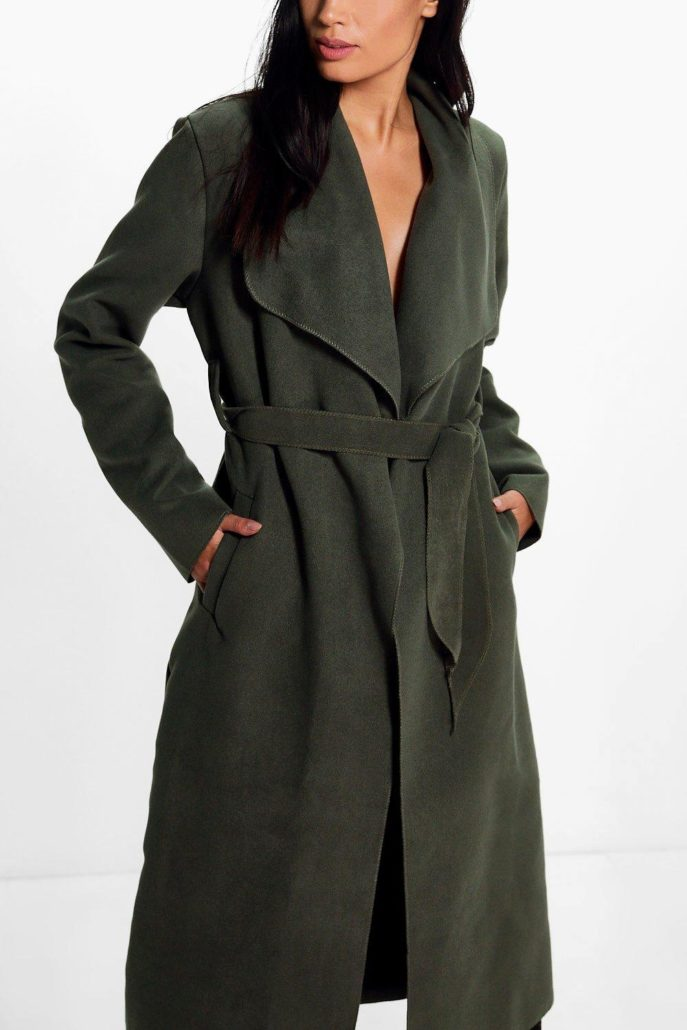 Kate Belted Shawl Collar Coat | Hermosaz