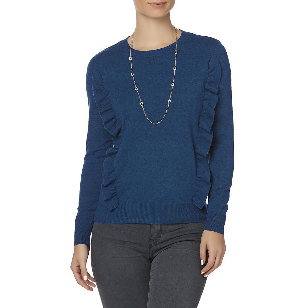 Simply Styled Women's Ruffle Sweater |Hermosaz
