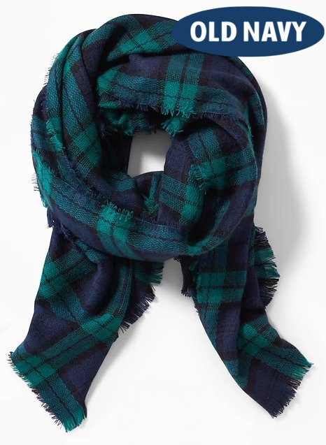 Flannel Blanket Scarf for Women | Hermosaz