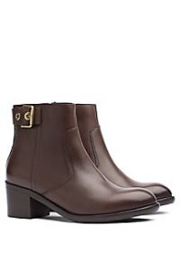 BUCKLE-BACK ANKLE BOOT | Hermosaz
