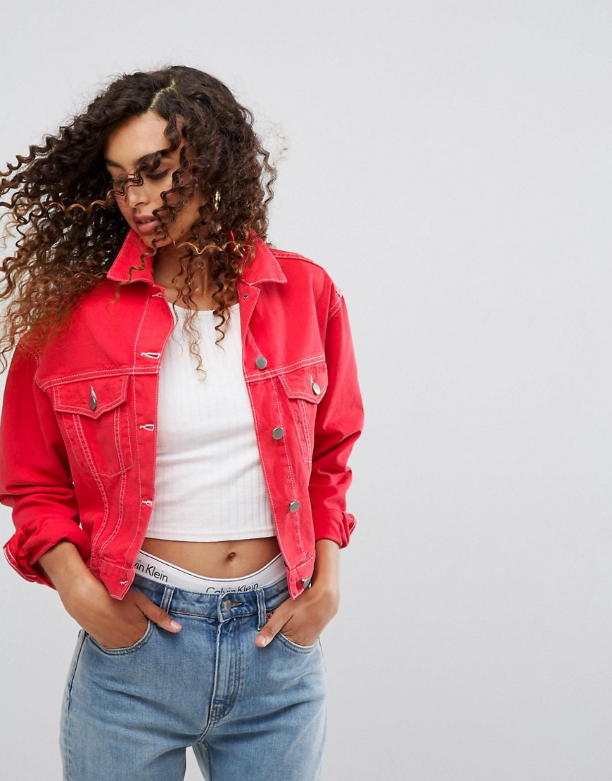 Red Denim Look | Hermosaz