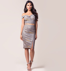 At My Best Lurex Skirt   Hermosaz