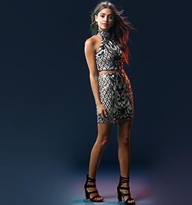 Two Piece Deco Sequin Skirt Set | Hermosaz