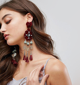 Her Curious Nature Flower & Tassel Statement Earrings | Hermosaz