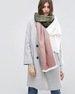 ASOS Supersoft Long Woven Scarf In Color Block | Hermosaz