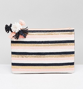 Miss KG Hunt Pom Detail Clutch Bag | Hermosaz