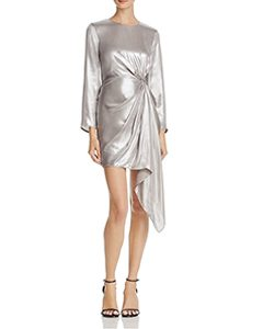 Ruched Metallic Dress | Hermosaz