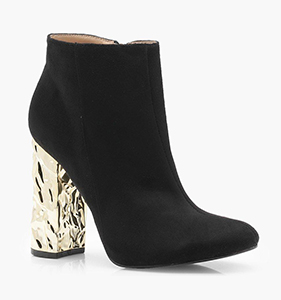 Olivia Feature Heel Shoe Boots | Hermosaz