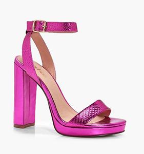 Olivia Metallic Snake Platform 2 Part Heels | Hermosaz