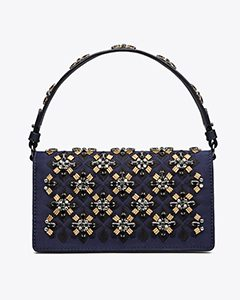 CLEO EMBELLISHED FOLD-OVER CLUTCH | Hermosaz