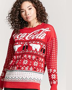 coca cola holiday sweater | Hermoaz